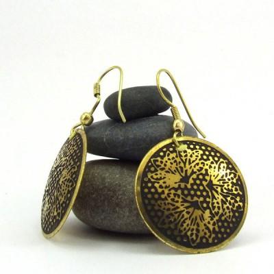 Boucles d'oreilles rondes Indiennes (bineo008)