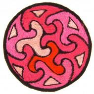 Ecusson a coudre - Triskels Rose (ecnep1R069)