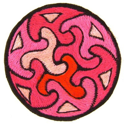 Ecusson à coudre - Triskels Rose (ecnep1R069)