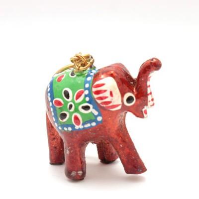 Porte-clefs éléphant - Rouge (PTC001)