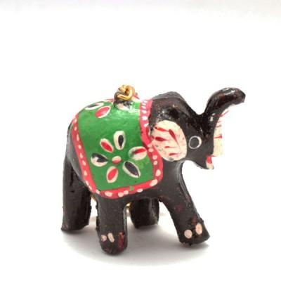 Porte-clefs éléphant - Noir (PTC003)