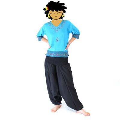 Pantalon Sarouel Femme - Noir(002)
