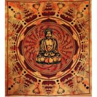 Tenture de Bouddha en position du Lotus