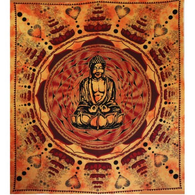 "Tenture Indienne ""Bouddha Lotus""(tgm033)"