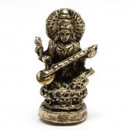 Statuette Sarasvâtî - Mini Statuette Indienne artisanale (stabxs002)