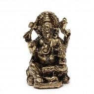 Statuette Ganesh - Mini Statuette Indienne artisanale (stabxs008)