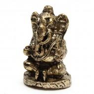 Statuette Ganesh - Mini Statuette Indienne artisanale (stabxs009)