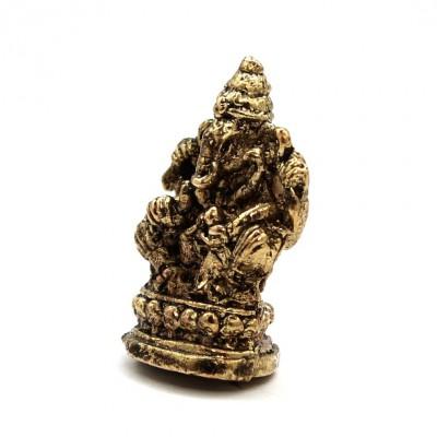 Statuette Ganesh - Mini Statuette Indienne artisanale (stabxs011)