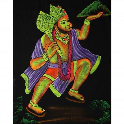 Tenture UV Indienne Hanuman (ptfl016)