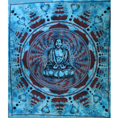 "Tenture Indienne ""Bouddha Lotus""(tgm084)"