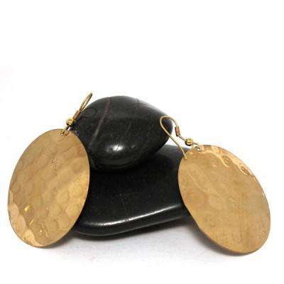 Boucles d'oreilles rondes Indiennes (bineo012g)