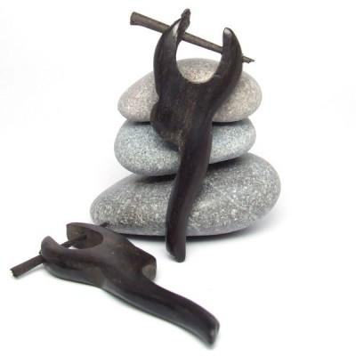 Boucles d'oreilles Indiennes en bois (bineb003)