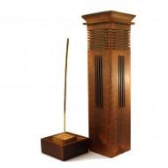 Porte Encens Vertical en bois sculpté (pegr007)