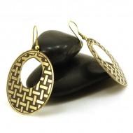 Boucles d'oreilles rondes Indiennes (bineo022)