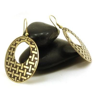 Boucles d'oreilles rondes Indiennes (bineo016g)