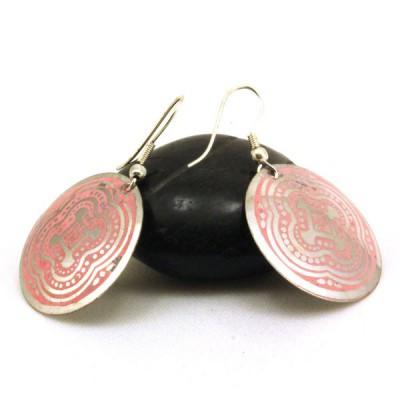 Boucles d'oreilles rondes Indiennes (binea013)