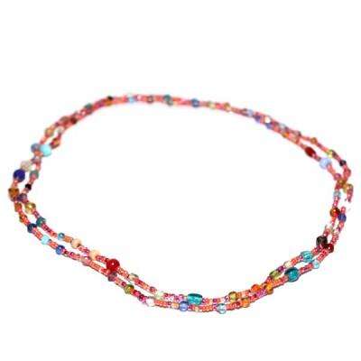 Sautoir Multicolore en perles de verre (gcolper02)