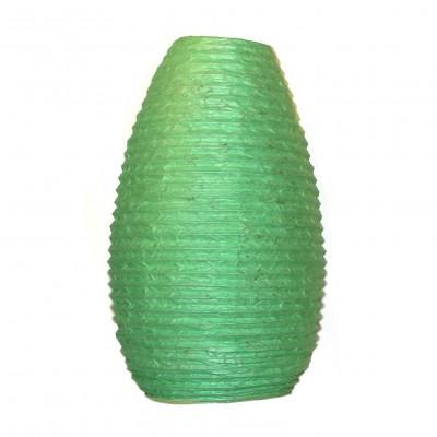 Lampion népalais en papier vert (lampnp009)