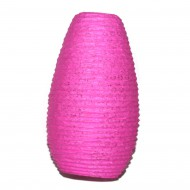 Lampion indien en papier rose (lampip008)