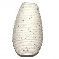 """Lampion indien en papier blanc cassé """"pétales de fleurs"""" (lampip005)"""