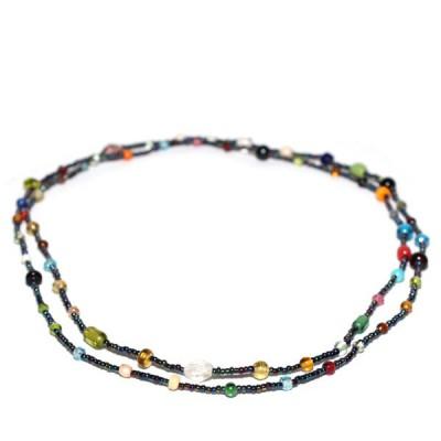 Sautoir Multicolore en perles de verre (gcolper01)