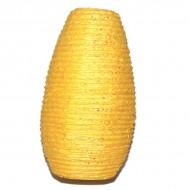 Lampion indien en papier jaune (lampip001)