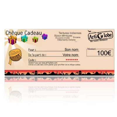 Chèque cadeau 100€ par email