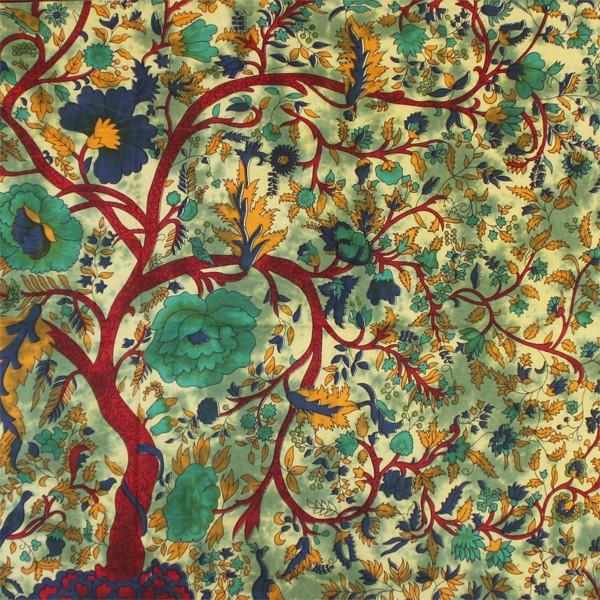 Tenture indienne arbre de vie tentures murales for Decoration murale arbre de vie