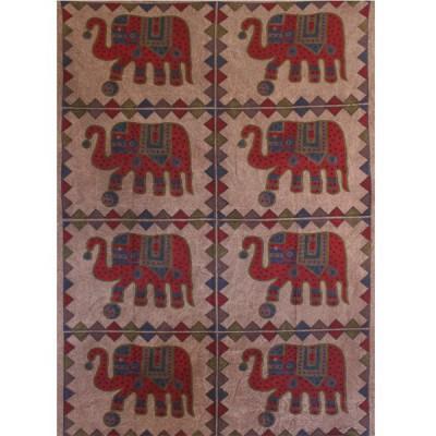 "Tenture Indienne ""Eléphants"" (tmm177)"