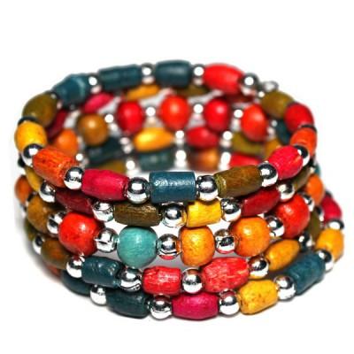 Bracelet Indien Multicolore Enfant - bracelet multitours