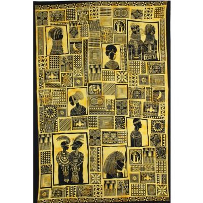 """Tenture """"Portraits d'Afrique"""" (tmm034)"""