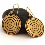 Boucles d'oreilles rondes Indiennes (bineo019)