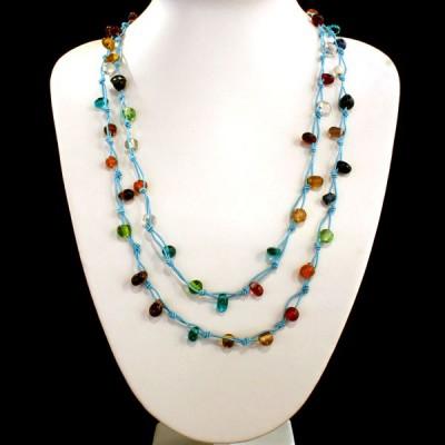 Sautoir Multicolore en perles de verre (gcolper05)