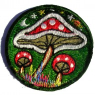 Ecussons Champignons MoonLight - Vert
