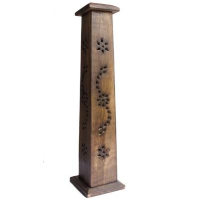 Porte Encens Vertical en bois sculpté (pegrt013)