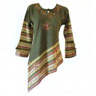 Tunique Népalaise (tunep01or) - Vêtements artisanaux sur Artiglobe.com