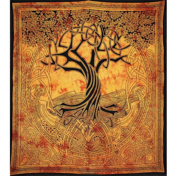 grande tenture murale motif arbre celt sur. Black Bedroom Furniture Sets. Home Design Ideas