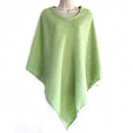 Poncho népalais vert clair - 100% laine (ponchpal101vc)