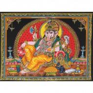 """Tenture Batik """"Ganesh"""" (ptbfl10/2)"""