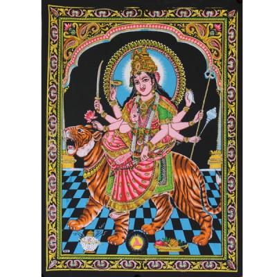 """Tenture Batik """"Durga"""" (ptbfl013)"""