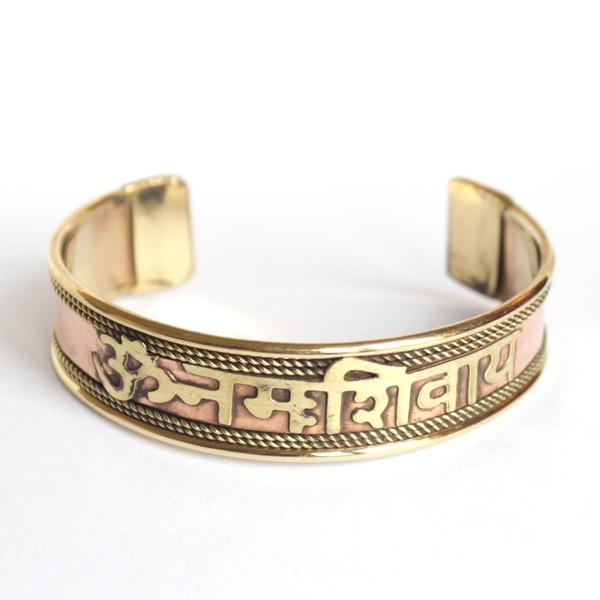 Bracelet indien motif mantra bijoux indiens originaux sur - Bracelets bresiliens originaux ...
