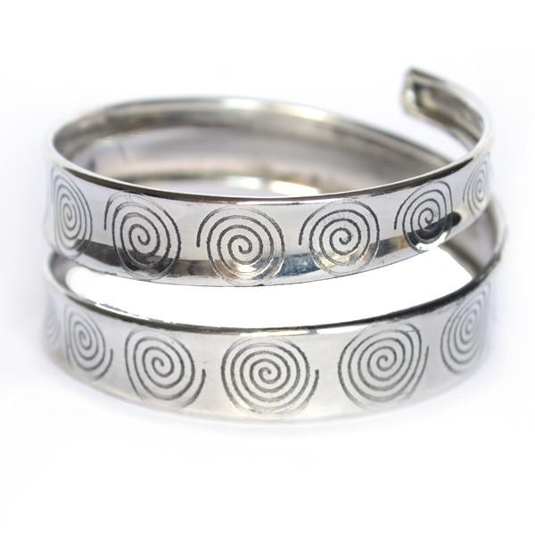 Bracelet indien motifs spirales bijoux indiens originaux sur - Bracelets bresiliens originaux ...