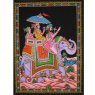 Tenture Batik du dieu Shiva