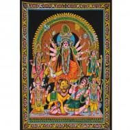 Tenture Batik du dieu Durga