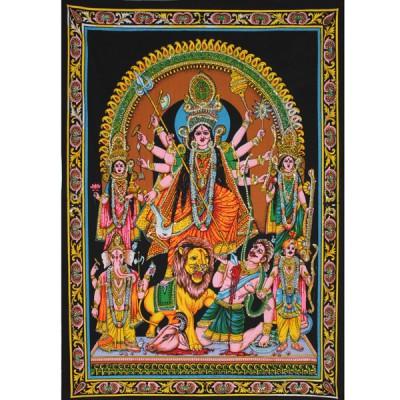 """Tenture Batik """"Durga"""" (ptbfl17)"""