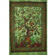 Tenture arbre de vie verte - L'arbre de la connaissance