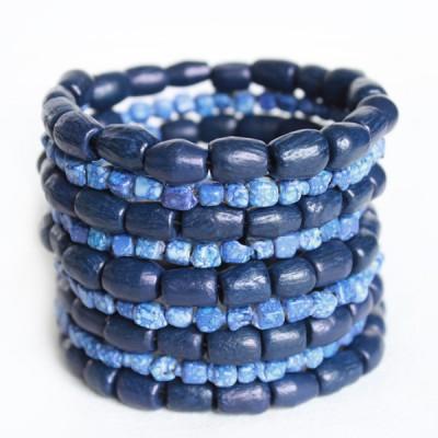 Bracelet Indien Bleu - bracelet multitours