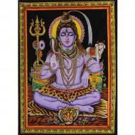 "Tenture Batik ""Shiva"""