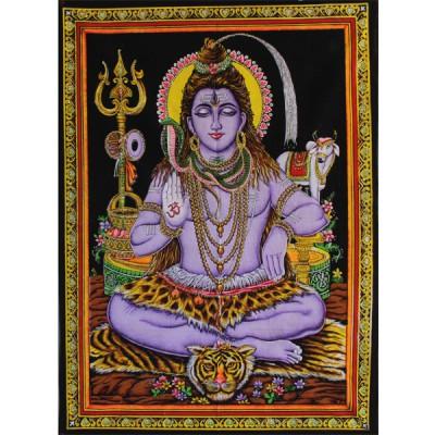 """Tenture Batik """"Shiva"""" (ptbfl05/2)"""