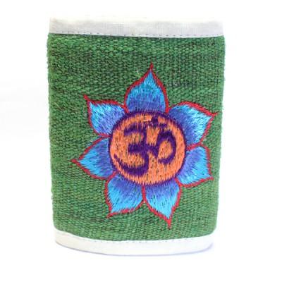 Portefeuille brodé en Chanvre du Népal - Ôm Lotus
